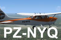 Screenshot of Caricom Airways Cessna 172 PZ-NYQ in flight.