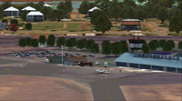 Screenshot of Carnarvon Airport scenery.