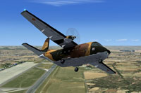 Screenshot of Casa C-212 35-05 Camo in the air.