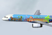 Screenshot of Cebu Pacific 757-200 'City of Manila'.