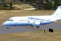 Screenshot of Centavia BAe 146/RJ85 on the ground.
