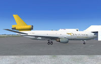 Centurion Air Cargo DC-10 on the ground.