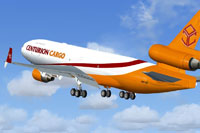 Screenshot of Centurion Cargo McDonnell Douglas MD-11 taking off.