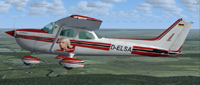Screenshot of Cessna 172 D-ELSA in flight.