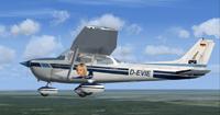 Screenshot of Cessna 172 D-EVIE in flight.