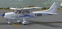 Screenshot of Cessna 172 F-GDIX on the ground.