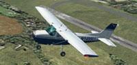 Screenshot of Cessna 172 N1449U in flight.
