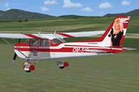 Screenshot of Cessna 172 OM-SIS in flight.
