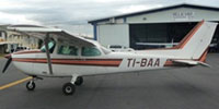 Image of Cessna 172 TI-BAA on the ground.
