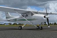Screenshot of Cessna 172R C-GBFA on runway.