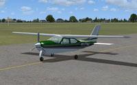 Screenshot of Cessna 177RG Cardinal on runway.