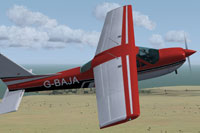 Screenshot of Cessna 177RG G-BAJA in flight.