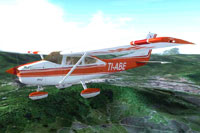 Screenshot of Cessna 182 TI-ABE in flight.