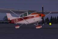 Screenshot of Cessna 182Q on the ground.