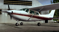 Screenshot of Cessna 182RG VH-JQE on the ground.