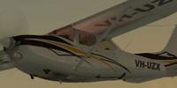 Screenshot of Cessna 182RG VH-UZX in flight.