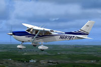 Screenshot of Cessna 182T N6978T in flight.