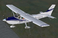 Screenshot of Cessna 182T Skylane G-LUEK on the ground.