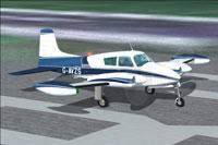 Screenshot of Cessna 310B preparing for take-off.