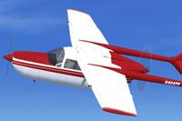 Screenshot of Cessna 337/O-2 Skymaster in flight.