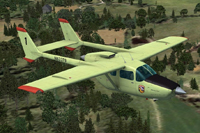 Screenshot of Cessna 337 Skymaster N63379 in flight.