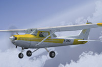 Screenshot of Cessna C152II F-GRKD in flight.