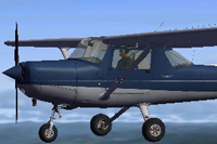 Screenshot of Cessna C152II N2270J in flight.