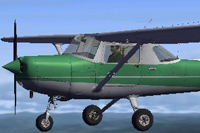 Screenshot of Cessna C152II N41032 in flight.