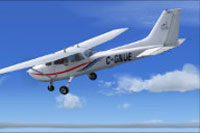 Screenshot of Cessna C172 C-GNUE in flight.