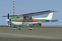 Screenshot of Cessna C172 D-EDJL on the ground.
