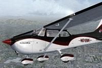 Screenshot of Cessna C172 N172BK in flight.