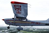 Screenshot of Cessna C172 Skyhawk VH-SKO in flight.