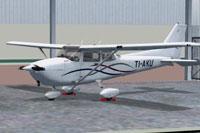 Screenshot of Cessna C172 TI-AKU on the ground.