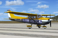 Screenshot of Cessna C172 Trainer SX-AWD on runway.