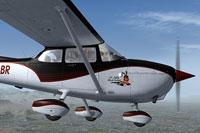 Screenshot of Cessna C172 VH-LBR in flight.