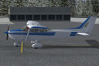 Screenshot of Cessna C172R Skyhawk on the ground.