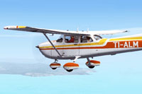 Screenshot of Cessna C172R TI-ALM in flight.