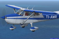 Screenshot of Cessna C172R TI-AWR in flight.