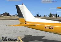 Splash Screen showing the tail of Cessna C172SP Skyhawk.