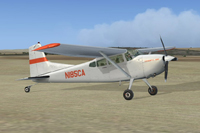 Screenshot of Cessna C185F Skywagon N185CA on the ground.