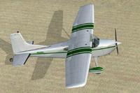 Screenshot of Cessna C185F Skywagon N5554D on the ground.
