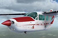 Screenshot of Cessna C337 Skymaster C-FAIR in the air.