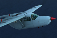 Screenshot of Cessna C337 Skymaster N19F in flight.