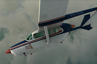 Screenshot of Cessna C337 Skymaster VH-FDB in flight.