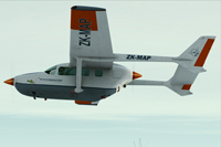 Screenshot of Cessna C337 Skymaster ZK-MAP in flight.