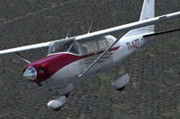 Screenshot of Cessna CT206H TI-AZT in flight.