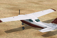 Screenshot of Cessna CT210M Centurion II on the ground.
