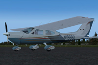 Screenshot of Cessna Cardinal N19880 on the ground.
