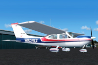 Screenshot of Cessna Cardinal N821KF on the ground.