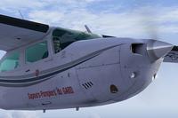 Screenshot of Cessna Centurion C210 F-GCSG in flight.